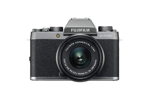 FUJIFILM X-T100 + XC 15-45mm D.SILVER/BLACK - FUJI ITALIA