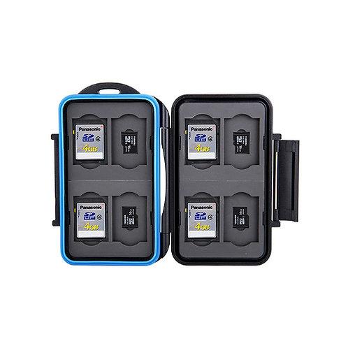 JJC Custodia Memory Card per 8 SD + 8 Micro SD
