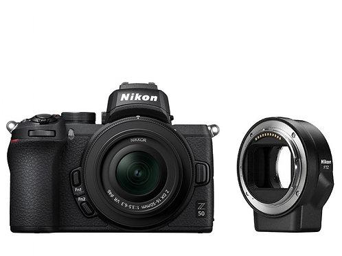 NIKON Z 50 + Z DX 16-50 VR + FTZ + SD 64GB LEXAR 667x PRO - NITAL