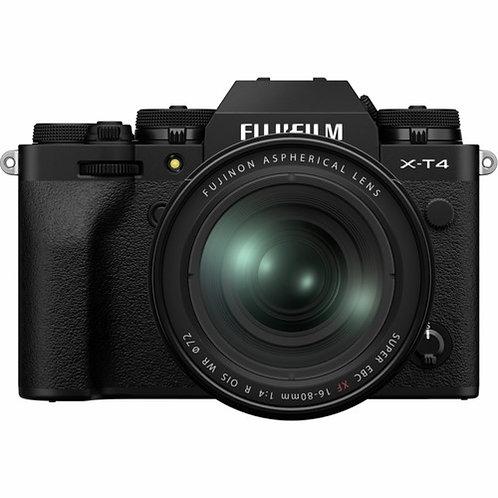 FUJIFILM X-T4 BLACK + XF 18-55 - FUJI ITALIA