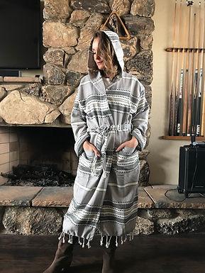 JOYFUL- Hooded Cotton Robes