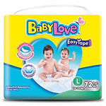 Babylove Easy Tape, L, 72pcs