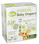 Chikool Air Baby Diapers, L, 22pcs