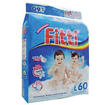 Fitti Jumbo Pack, L, 60pcs