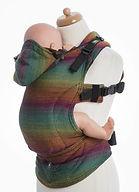LennyLamb Ergonomic Carrier, Baby Size, Little Herringbone Imagination Dark
