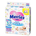 Merries Tape Diaper, NB, 90pcs