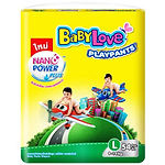 Babylove Playpants Baby Diapers, L, 54pcs