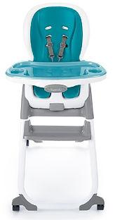 Ingenuity SmartClean Trio Elite 3-in-1 High Chair, Peacock Blue