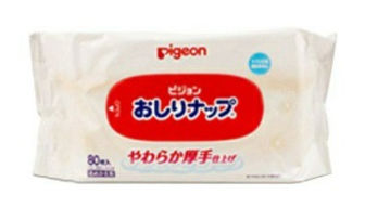 Pigeon Baby Wipes, 99% Pure Water, 80s