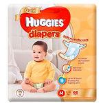 Huggies Gold Diaper, M, 66pcs