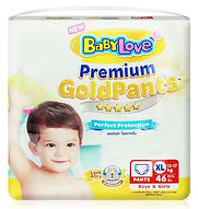 Babylove Premium Gold Pants, XL, 46pcs