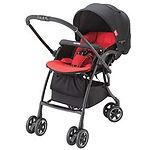 Aprica Luxuna Comfort Stroller, Red