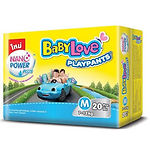 Babylove Playpants Baby Diapers, M, 20pcs