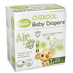 Chikool Air Baby Diapers, L, 22pcs