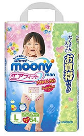 Moonyman Air Fit Pants (Girls), L, 54pcs
