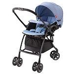 Aprica Luxuna Comfort Stroller, Blue