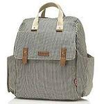 Babymel Robyn Convertible Backpack, Navy Stripe