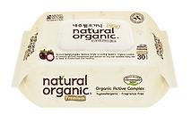 Natural Organic Premium Embossing Baby Wipes, Portable, 30s