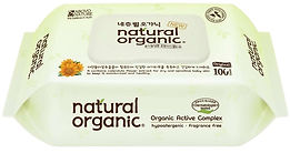 Natural Organic Original Plain Baby Wipes, Cap, 100s