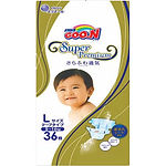 Goo.N Super Premium Diapers, L, 36pcs