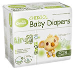 Chikool Air Baby Diapers, S, 28pcs