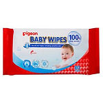 Pigeon Baby Wipes, 100% Pure Water, 80s