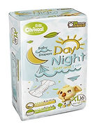 Chikool Day Night Baby Diapers, XL, 16pcs