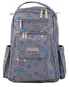 Jujube Be Right Back Diaper Bag, Rad Hearts