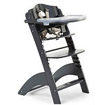 Childhome Lambda 3 Baby High Chair + Feeding Tray, Anthracite
