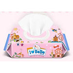 Ilovebebe Pink Wet Wipes, Cap, 100s