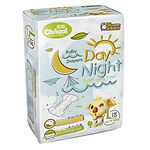 Chikool Day Night Baby Diapers, L, 18pcs