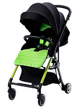PUKU Convertible Twin Stroller, Green