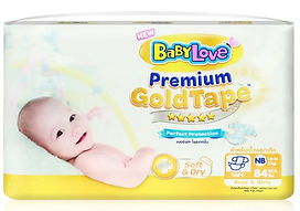 Babylove Premium Gold Tape, NB, 84pcs