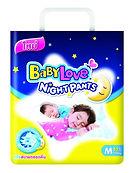 BabyLove Night Pants, M, 52pcs