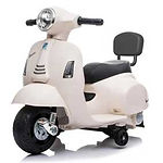 Vespa GTS Mini Electric Ride-On Kids Scooter, Cream White