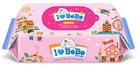 Ilovebebe Pink Wet Wipes, Refill, 100s