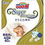 Goo.N Super Premium Diapers, NB, 60pcs