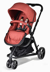 Unilove Touring Pram & Pushchair, Burgundy
