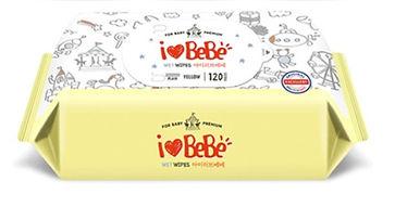 Ilovebebe Yellow Wet Wipes, Refill, 120s