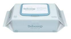 Bebesup Sensitive Blue Baby Wipes, Standard, 80s