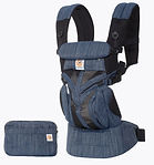 Ergobaby Omni 360 Baby Carrier, Cool Air Mesh, Indigo Weave