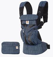 Ergobaby Omni 360 Baby Carrier, Cool Air Mesh, Indigo Weave