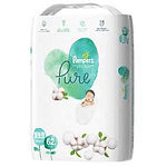 Pampers Pure Protection Diaper, NB, 62pcs