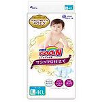 Goo.N Marshmallow Premium Soft Diapers, L, 40pcs