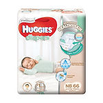 Huggies Platinum Diapers, NB, 66pcs