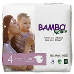 Bambo Nature Baby Diapers, L, 30pcs
