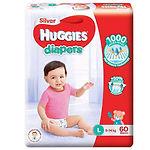Huggies Silver Diapers, L, 60pcs