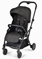 Unilove Slight Lux Baby Pushchair, Black Ripstops