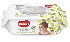 Huggies Baby Wipes, Clean Care, 80s