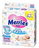 Merries Tape Diaper, NB, 90pcs